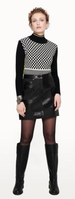 Escada Checkerboard Skirt