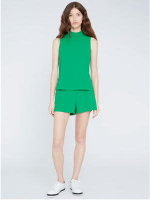 Alice & Olivia Dylan High Waisted Short in Emerald