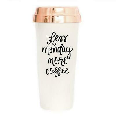 SWD Less Monday More Coffee Travel Mug