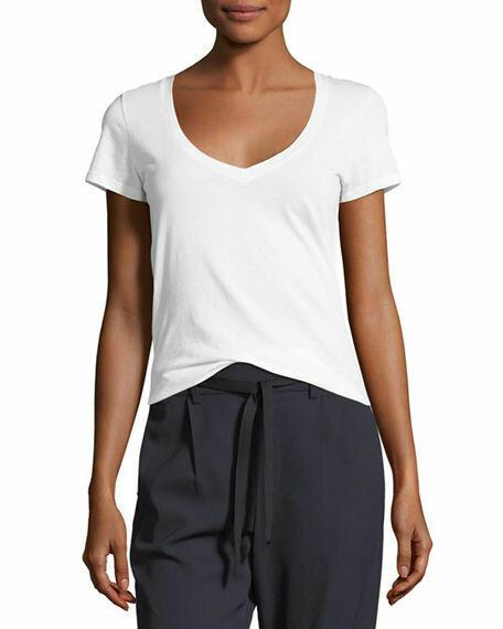 Vince V-Neck T-Shirt in White