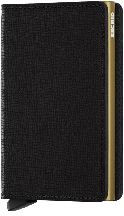 Secrid Slimwallet in Crisple Black-Gold