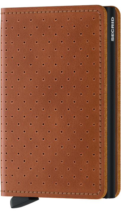 Secrid Slimwallet in Perforated Cognac