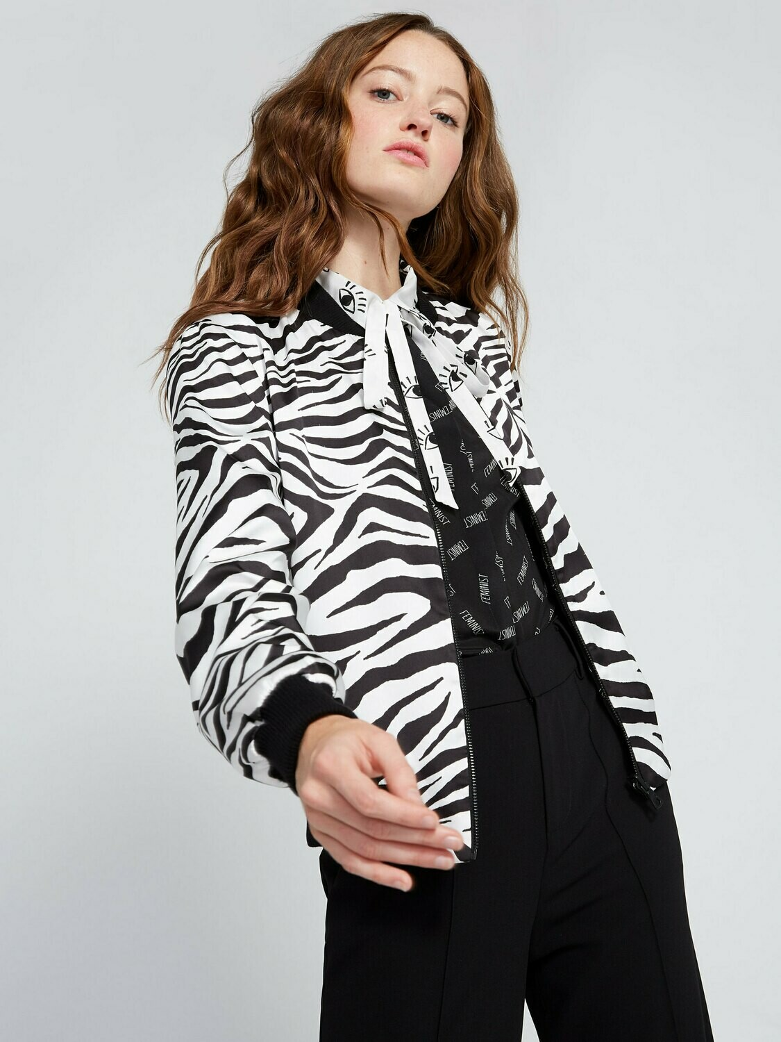 Alice & Olivia Lonnie Reversible Bomber