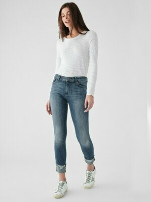 DL1961 Florence Ankle Mid Rise Skinny Moore