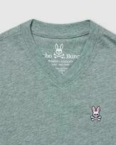 Psycho Bunny Boys classic v neck tee - Heather Antigua
