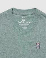 Psycho Bunny Boys classic v neck tee - Heather Antigua
