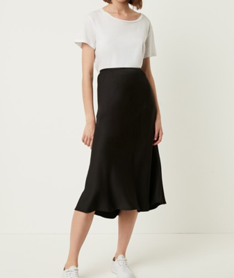 French Connection Alessia Satin Midi Skirt