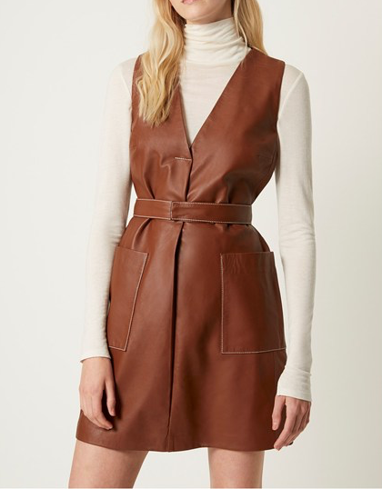 French Connection Abri Leather Dress