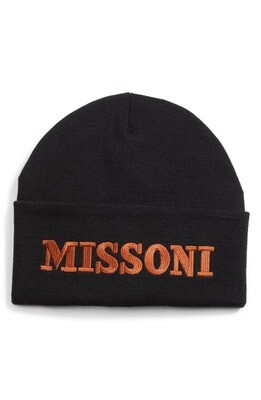 Missoni Logo Embroidered Beanie