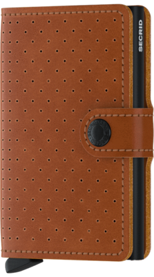 Secrid Miniwallet in Perforated Cognac