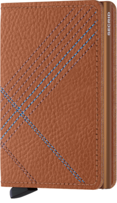 Secrid Slimwallet in Stitch Linea Caramello