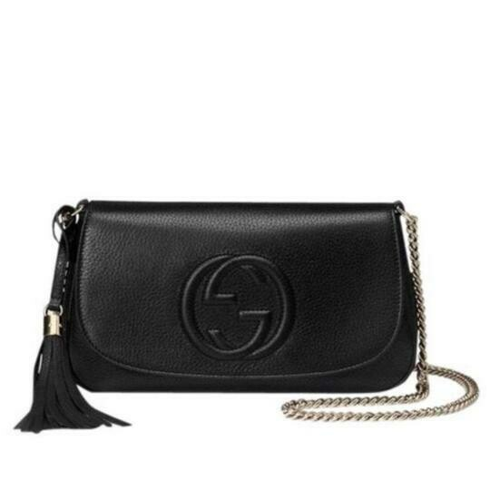 Gucci Soho Chain Strap Crossbody Bag in Black