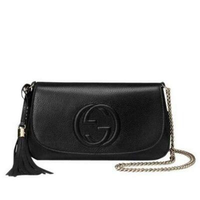 Gucci Soho Chain Strap Crossbody Bag in Black
