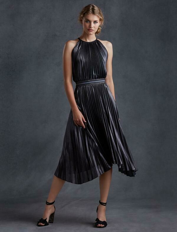 Bailey 44 Madison Dress in Gun Metal and Black