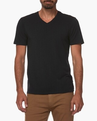 Paige Grayson V Neck Tee - Black