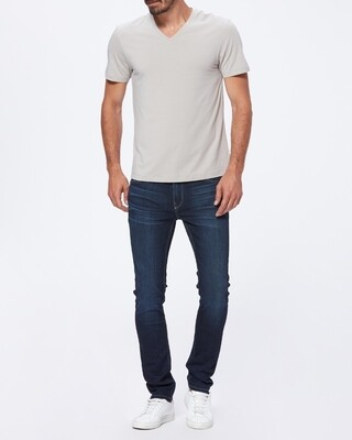 Paige Grayson V Neck Tee - Silver Sand
