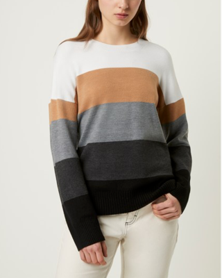 French Connection Rainbow Stripe Sweater