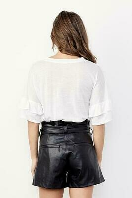 David Lerner Paperbag Waist Belted Skirt