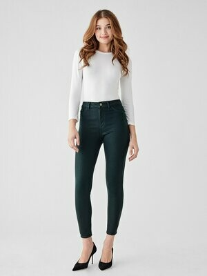 DL 1961 Farrow Ankle High Rise Skinny Jean in Deep Green