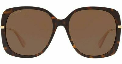 Gucci Acetate Square sunglasses In Havana/Brown