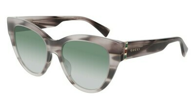 Gucci Cateye Acetate Sunglass In Havana/Pink