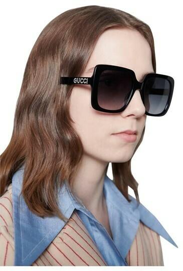Gucci Opulent Luxury Acetate Sunglasses In Black