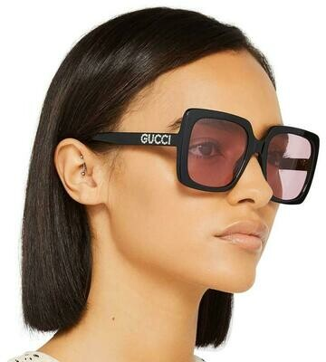 Gucci Opulent Luxury Acetate Sunglasses In Black/Pink