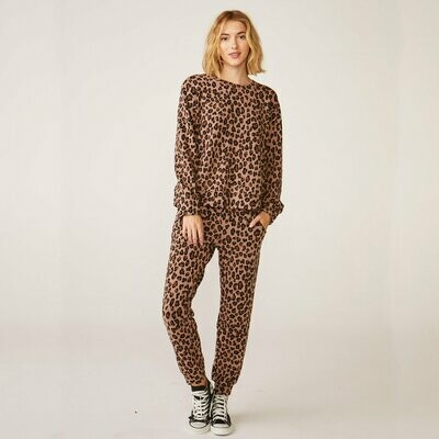 Monrow Natural Leopard Jogger