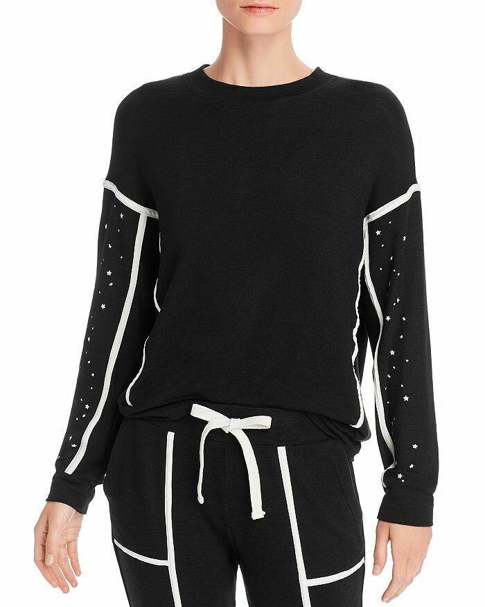 Monrow Supersoft Star-Sleeve Sweatshirt