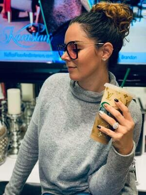 Designer Starbucks Cup In Gold