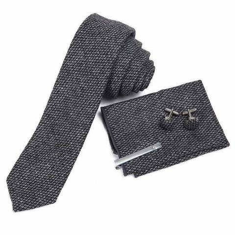 Mad Style Dark Grey Wool Men's Tie Boxed Set