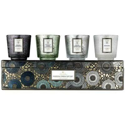 Voluspa Cool Tones Pedestal 4 Candle Gift Set