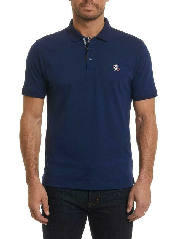 Robert Graham Easton Polo Shirt In Navy