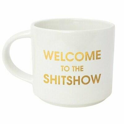 Welcome To The ShitShow Metallic Gold Mug