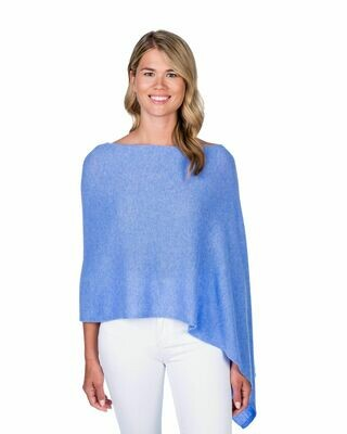 Jackie Z Cashmere Dress Topper in Blue Horizon