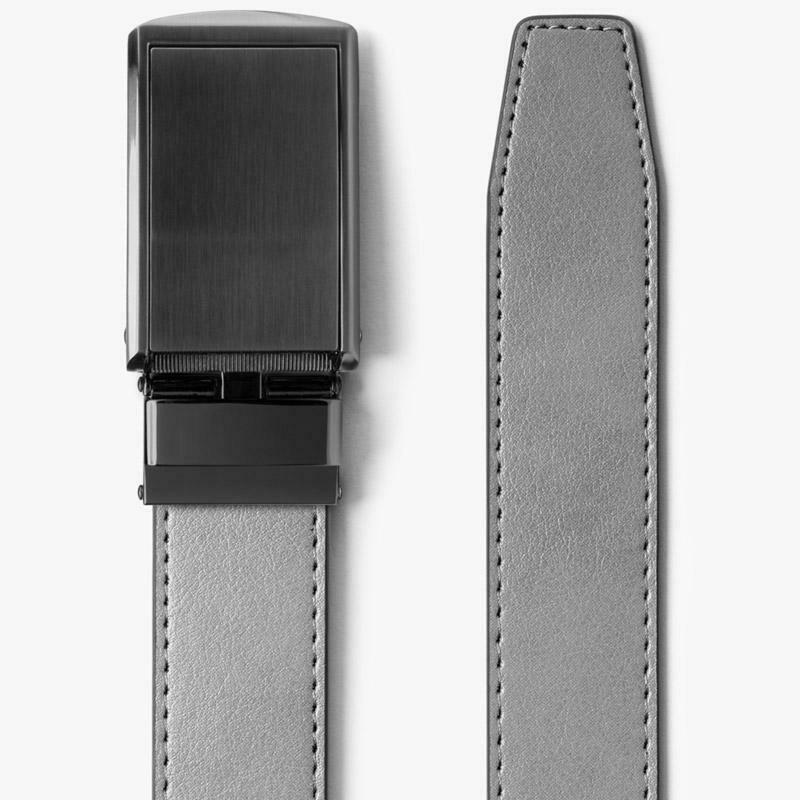 Slide Belt Steel Grey Belt W/ Gunmetal Buckle