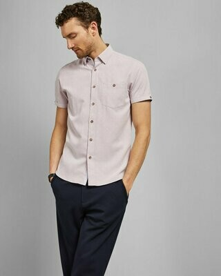 Ted Baker BRONZE Short sleeved printed shirt
