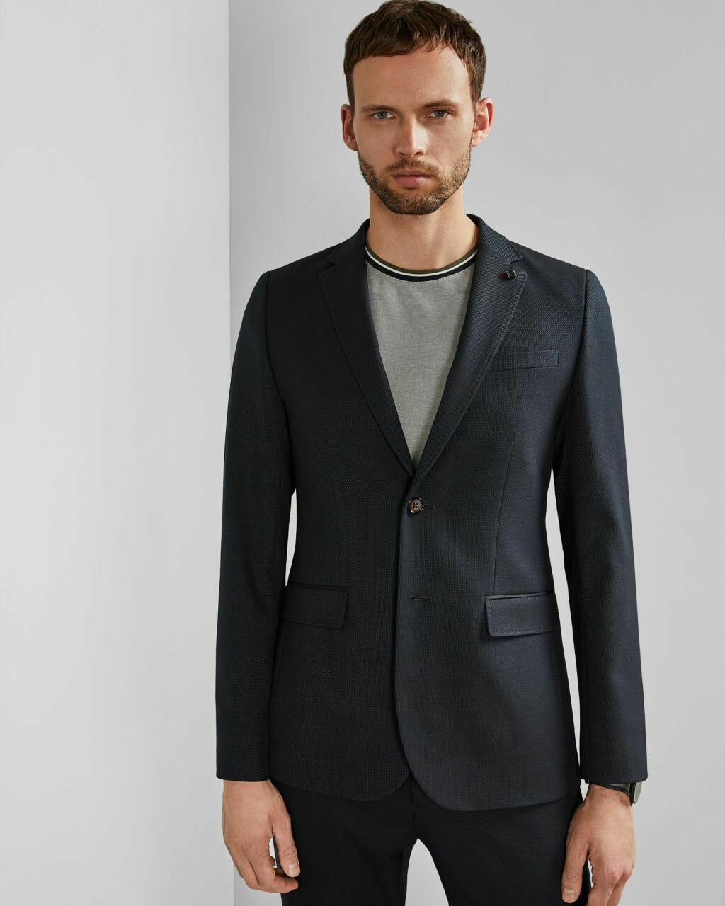 Ted Baker HEMSBY Textured semi plain blazer