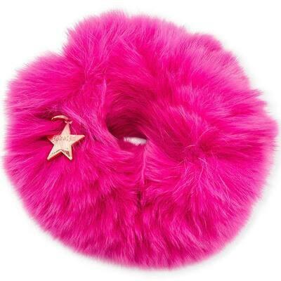 Jocelyn Rabbit Scrunchie Hot Pink