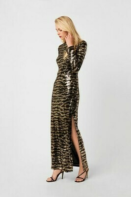 French Connection Ebba Tiger Maxi Split Dress