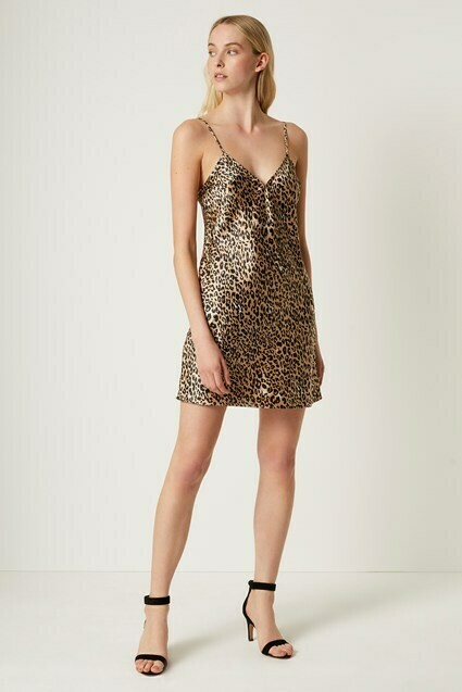 French Connection Leopard Slip Dress