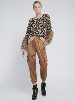 Alice & Olivia Shiela Leopard Pullover