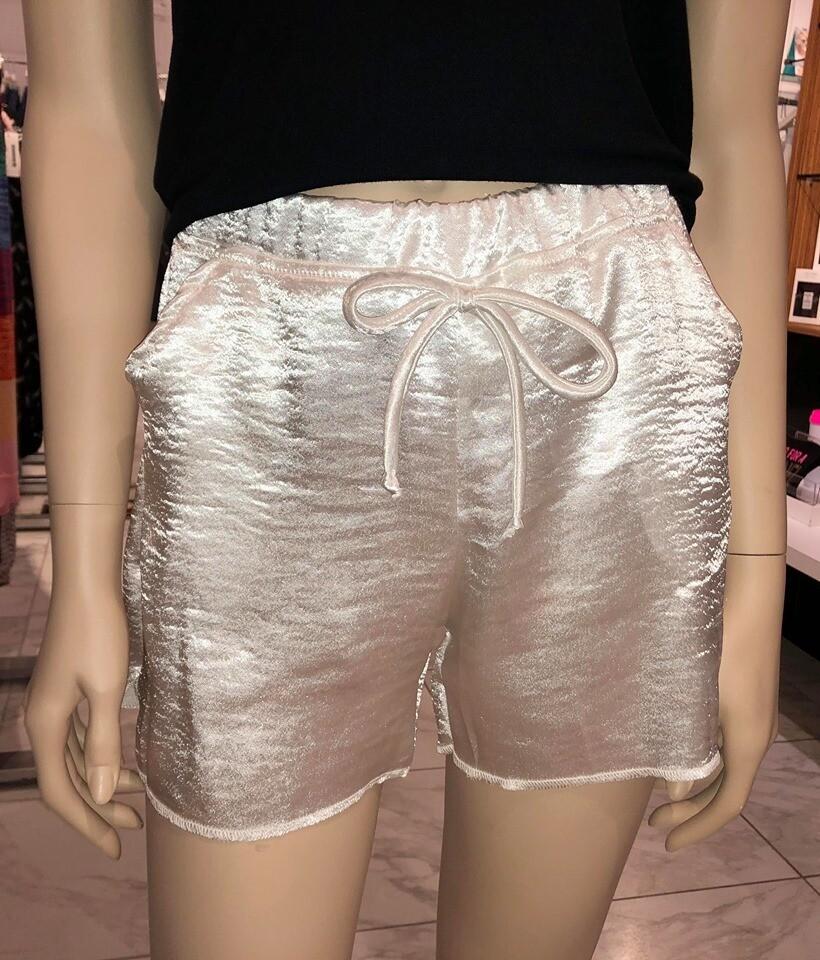 Jackie Z Ecru Sateen Shorts