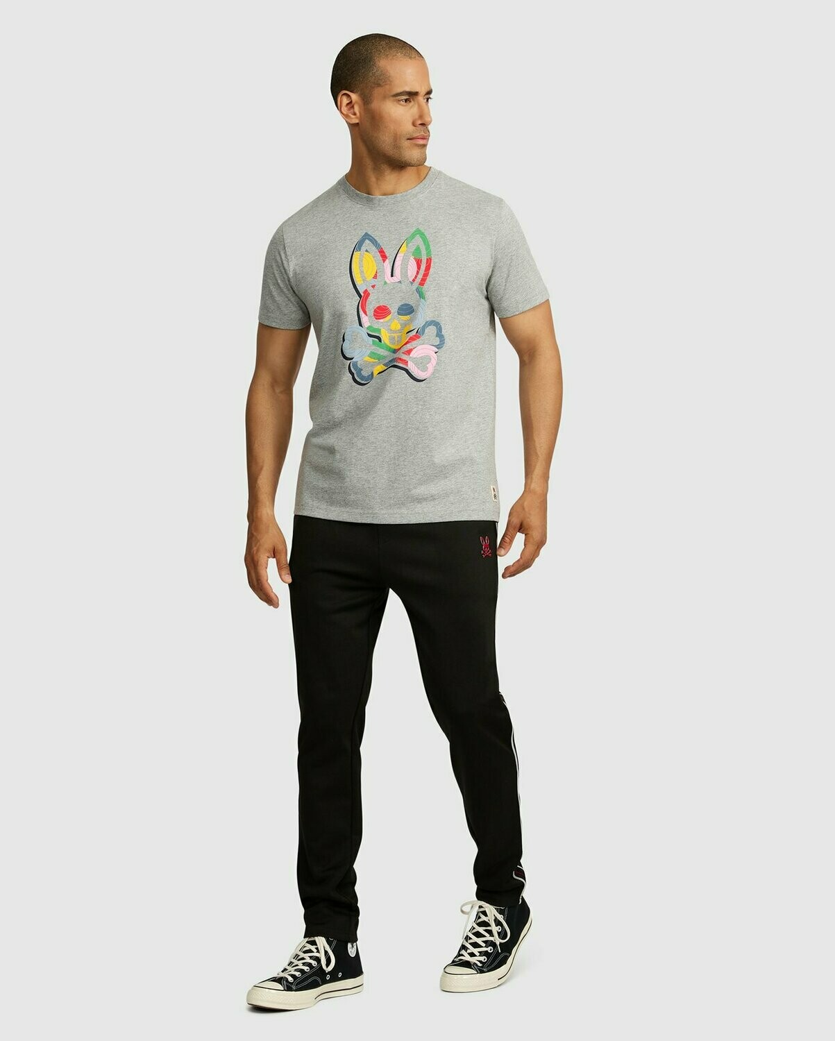 Psycho Bunny Mens Multicolor Logo Graphic Tee