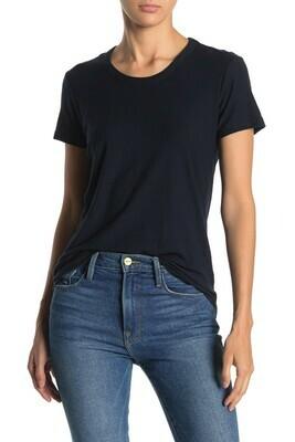 VINCE Womens Crew Neck Navy T-Shirt