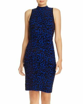 MILLY Textured Leopard Bodycon Dress