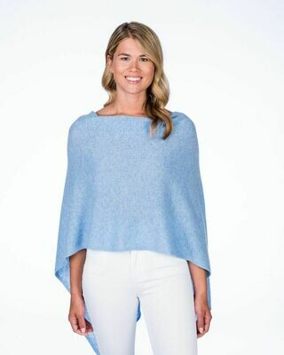 Jackie Z Cashmere Dress Topper in Sky