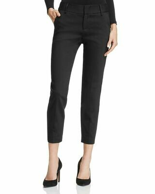 Alice & Olivia Stacey Cropped Slim Pants in Black