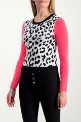Alice & Olivia Ciara Leopard Pullover