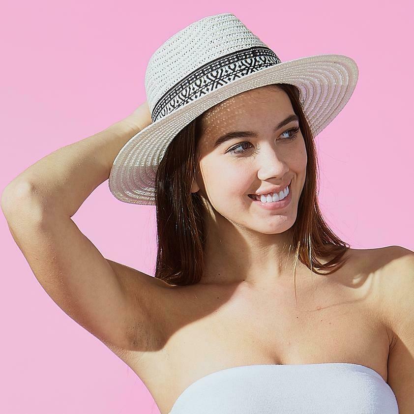 Jackie Z White Carson Panama Hat